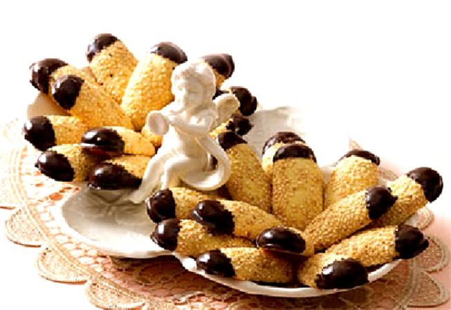 شیرینی کنجدی با شکلات - هایپرکلابز
